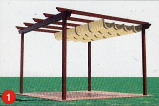 Toldatek pergolas de madera lonas para piscinas y toldos for Lonas para piscinas baratas
